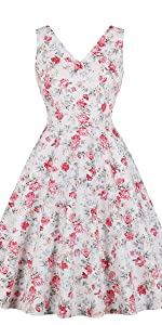 53ca82757dc ... vintage dress retro dress v neck dress cotton dress floral dress white  dress 1950s dress ...