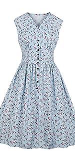 19f73f55bcc ... vintage dress retro dress floral dress button down dress summer dress  1940s dress 1950s dress blue ...