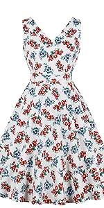 796ce1f12f4 ... vintage dress retro dress v neck dress cotton dress floral dress white  dress 1950s dress swing ...