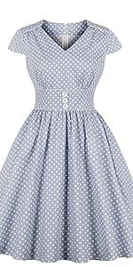 45fe02b8c1a ... vintage dress retro dress work dress cotton dress pin up dress blue  dress 1950s dress