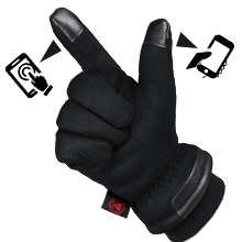 touch screen gloves for windy and cold weather outdoor