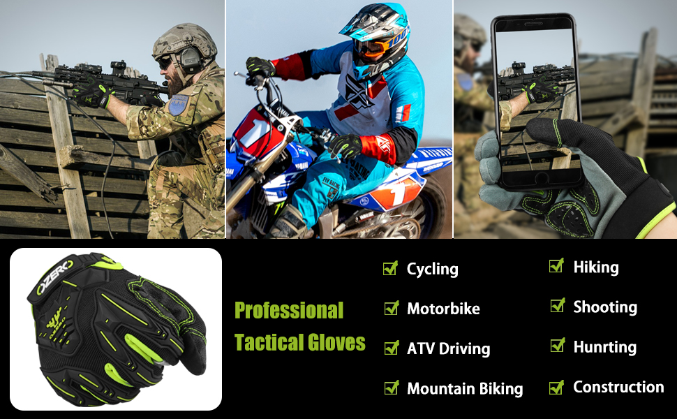 These gloves have soft and deerskin leather palm for exceptional griping, durability, contouring.