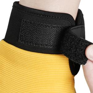 Adjustable velcro closure wrist band offers a snug fit