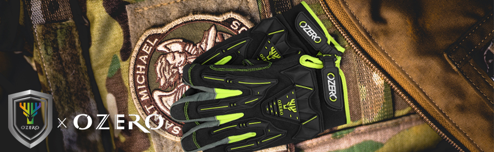 OZERO tactical military gloves have TPR impact protection,