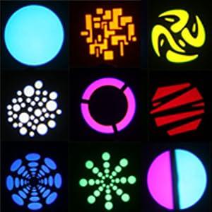 Flashandfocus.com 30c6fe24-6000-4deb-8134-bf5844f4c884._CR0,0,330,330_PT0_SX300__ U`King DJ Lights Moving Head RGBW 4 Color Stage Lighting LED Spotlight by DMX and Sound Activated Control for Wedding DJ…
