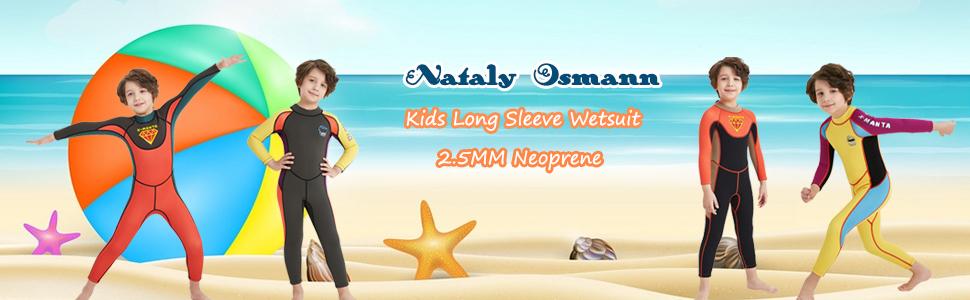 7627c437c9 Amazon.com  Nataly Osmann Kids 2.5mm Wetsuit Neoprene 2.5mm Full ...