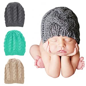 4f5be367ef7e Amazon.com  Quest Sweet Baby Knit Hat