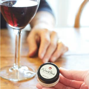 Apply WineBlock before you drink red wine