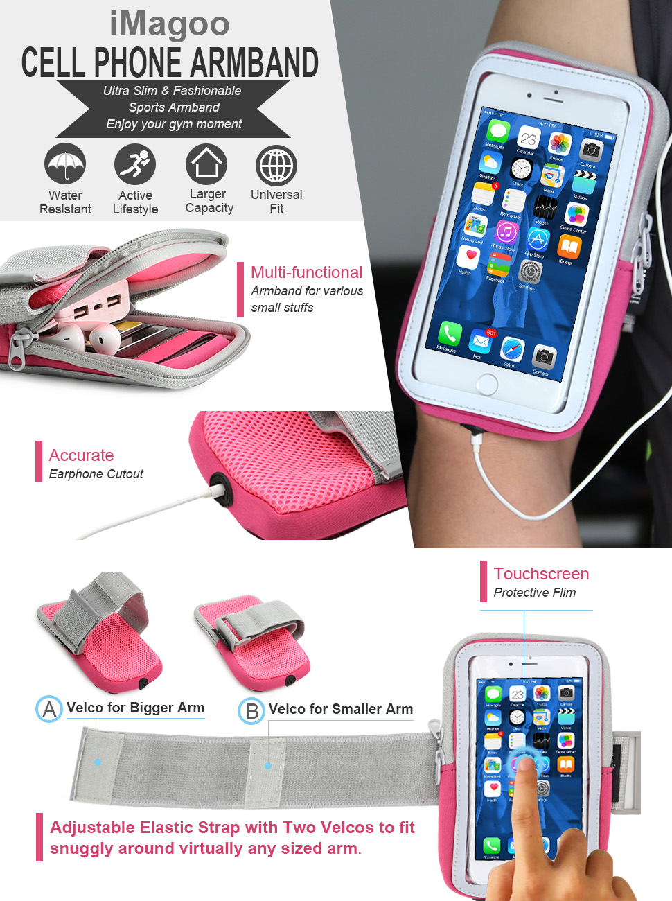 Amazon.com: iPhone 7 Plus Armband, iMangoo Cell Phone