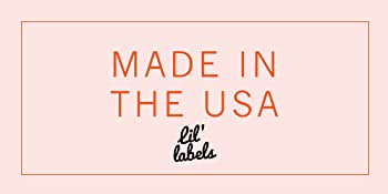 made in the usa waterproof labels baby bottle lable for daycare back to school label sticker
