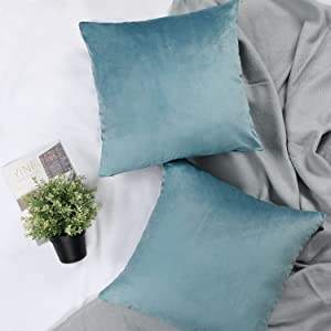 light teal pillow covers