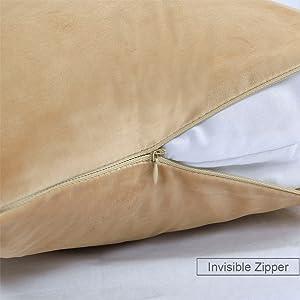 gold velvet pillow covers