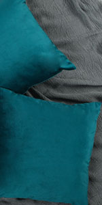 Teal Blue Pillow Cover Velvet