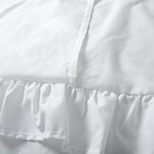 white pillow shams