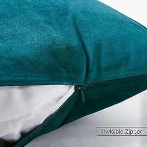 velvet pillow cover teal