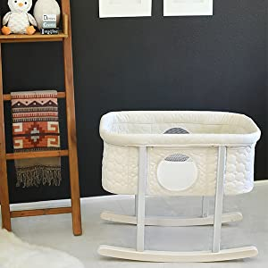 A photo of our baby rocker sleeper