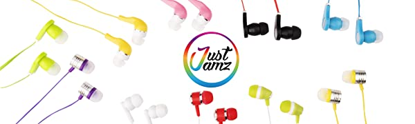 justjamz headphones earbuds earphones