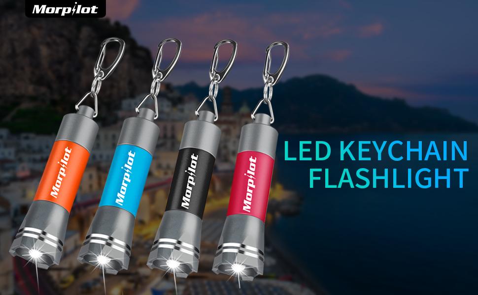Amazon.com: Morpilot Mini llavero linternas, 4 unidades ...