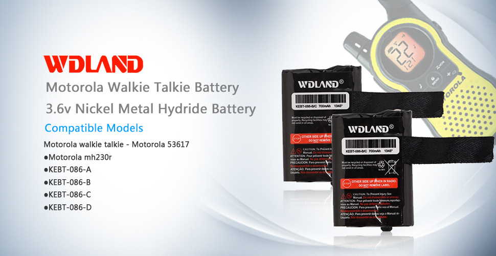 WDLAND 3 6V 700mah Nickel Metal Hydride Two-way Radio Rechargeable