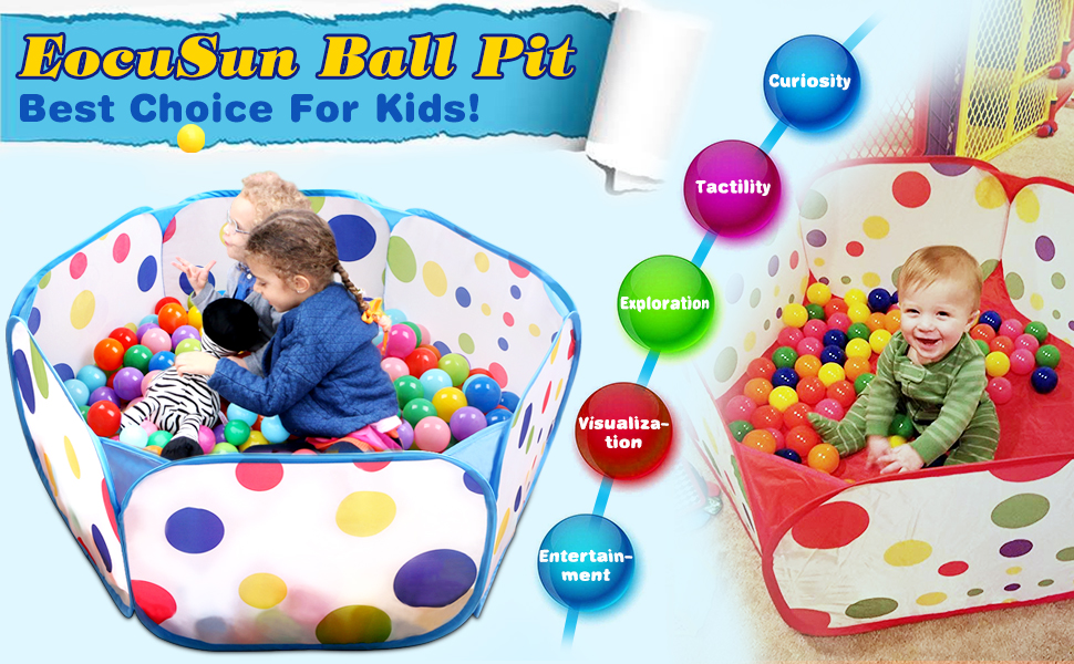 Youyijia Ball Pits Baby Round Ball Pit Childrens Play Toys Ball Pool for Kids Baby Toddler Light Blue
