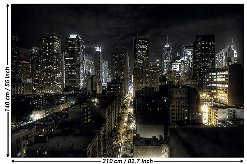 amazon com new york photo wallpaper manhattan at night wall
