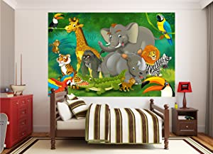 Amazon Com Wall Mural Kid S Room Jungle Animals Mural