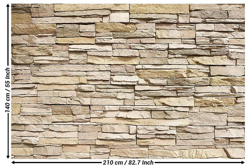 Amazon.com: Wall Mural Stone Optic 3D Mural Decoration Stone ...