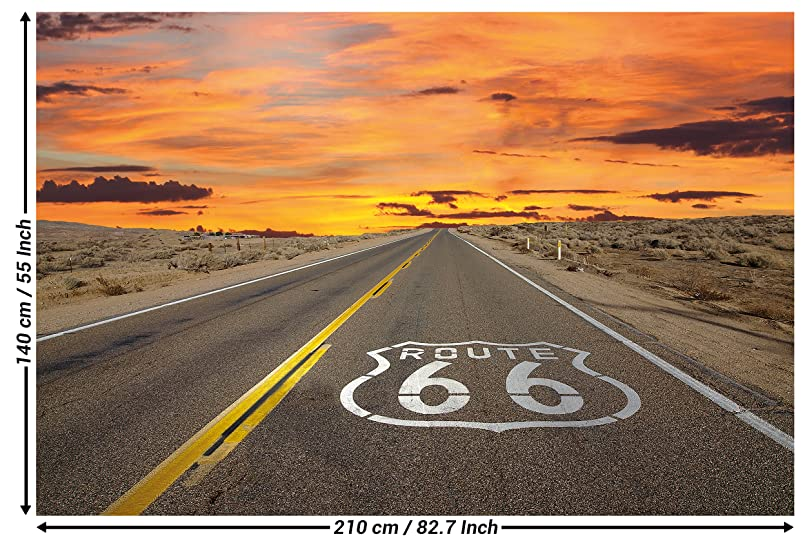 route 66 picture wallpaper american highway wallpaper poster xxl wall decoration great art. Black Bedroom Furniture Sets. Home Design Ideas