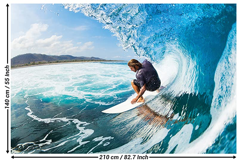 Surfer Wave Photo Wallpaper Surfer Catching A Wave Mural Xxl