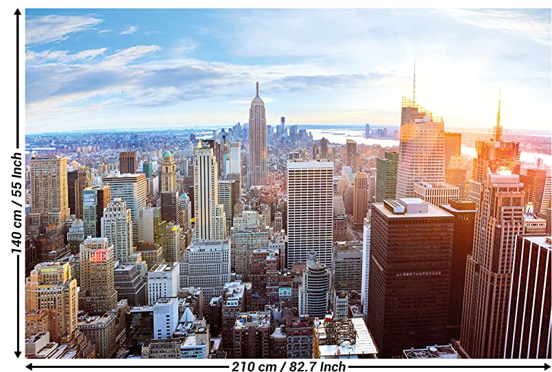 amazon com wall mural new york skyline mural decoration sunset
