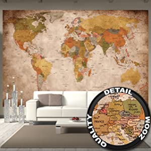 Map Wall Decoration For Your Very Personal Interior Design Large Format Poster Cartography Geography And Travel Enthusiasts As A Wallpaper
