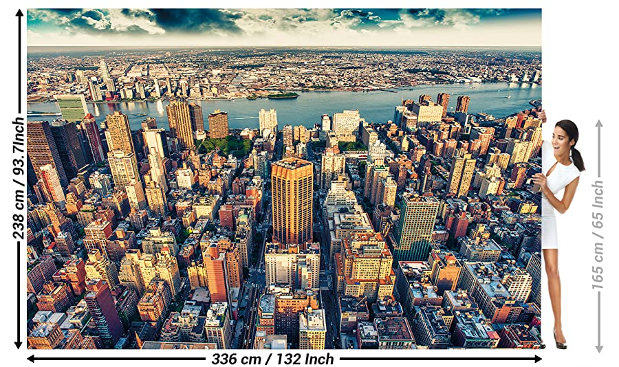 Wallpaper New York City Skyline Wall Picture Decoration Sundown Manhattan America USA Decor Big Apple NYC I Paperhanging Poster By