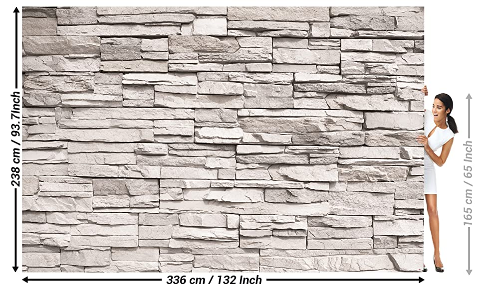 Wallpaper White Stonewall Wall Picture Decoration Stone Wallpaper