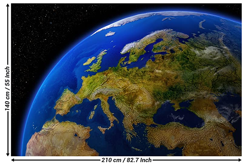 Amazon photographic wallpaper europe during the day wall photographic wallpaper europe during the day wall picture decoration continents planet earth galaxy world map daylight map of europe i paperhanging poster gumiabroncs Images