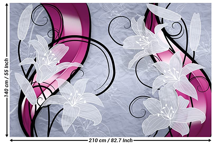 Amazoncom Great Art Flowers Wall Art Decoration Photo Wallpaper