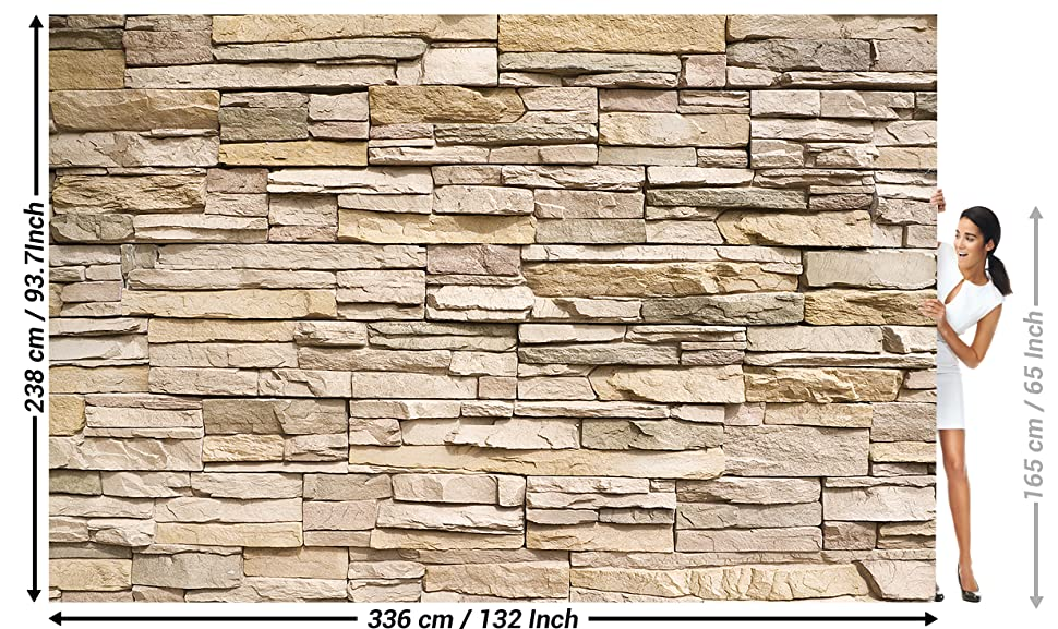 Amazon Great Art Wall Mural Stone Optic 3d Mural Decoration