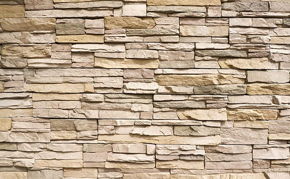 Amazon.com: Poster – Noble Beige Stonewall – Picture