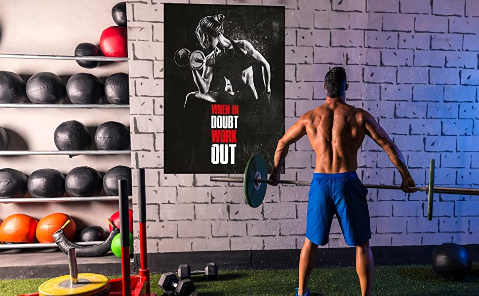G-432 Bodybuilding Weightlifting Fitness Motivational Fabric Poster 24x36 27x40