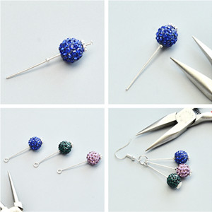PandaHall Elite About 168 Pcs 304 Stainless Steel Flat Head Findings Eye Pin Length 2 Inch 23-Gauge for Jewelry Making