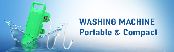 Portable Washing Machine Small Mini Hand Compact Semi Automatic Washer Laundry Wash Capacity 6.5lbs