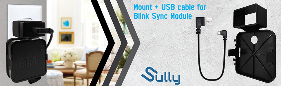 Blink Sync Module Mount (Black) – Compatible w/Blink Sync Mount & Blink XT Sync Mount – A/C Mount