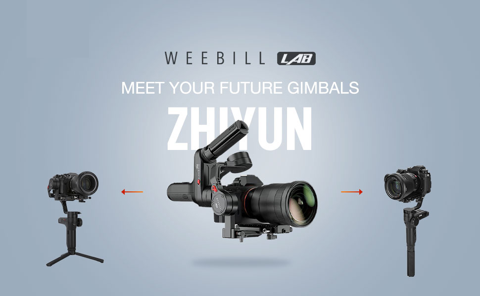 Zhiyun WEEBILL LAB Handheld Gimbal Stabilizer Max Payload 3KG with  Versatile Structure Wireless Image Transmission and ViaTouch Compatible for  Sony