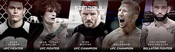 Sanabul Brand, UFC Champions gear, mike bisping, tj dillashaw, sugar omalley, alan jouban
