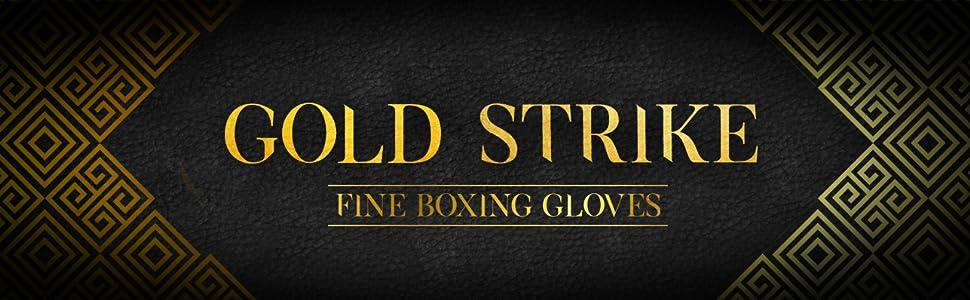 gold strike, boxing gloves,