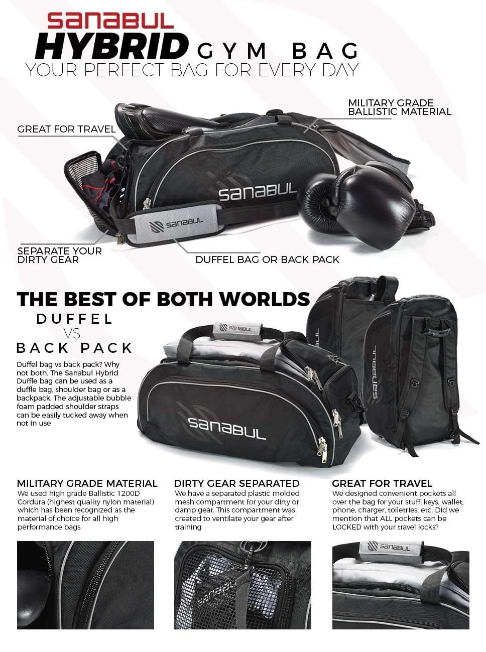 Sanabul hybrid mma duffel backpack bag silver jpg 968x1299 Grappling gym bag dbebeb2c0b