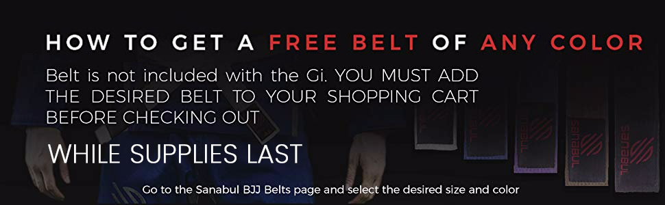 Free BJJ Belt, Jiu Jitsu Belt Free