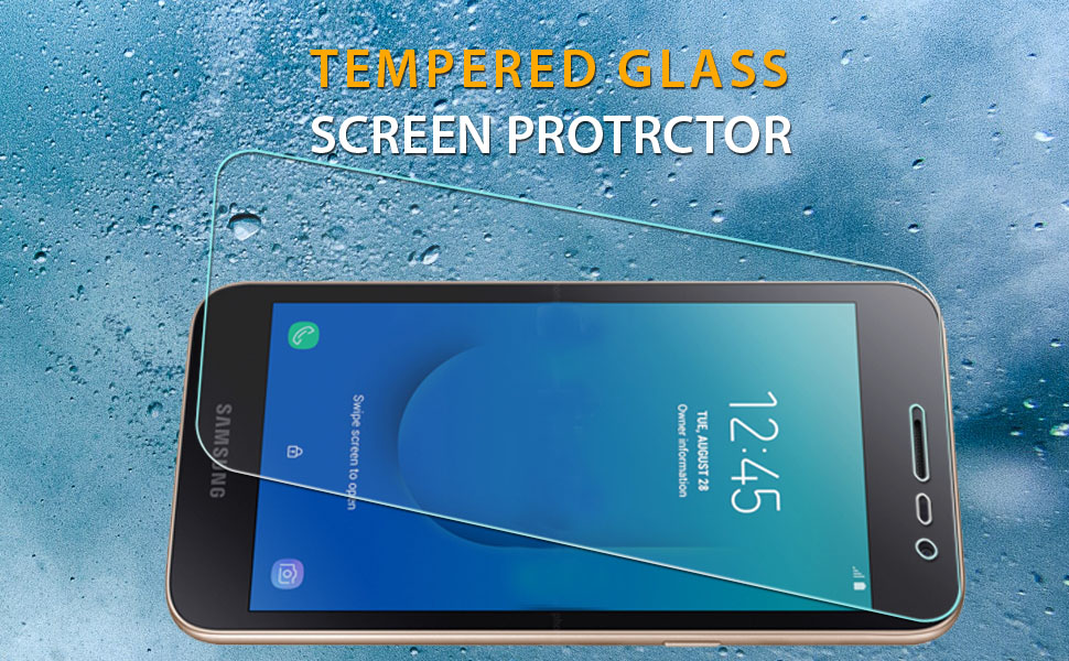 Screen Protector for Galaxy J2 Core Bubble Free 9H Hardness 1 Pack CUSKING HD Crystal Clear Tempered Glass Screen Protector for Samsung Galaxy J2 Core