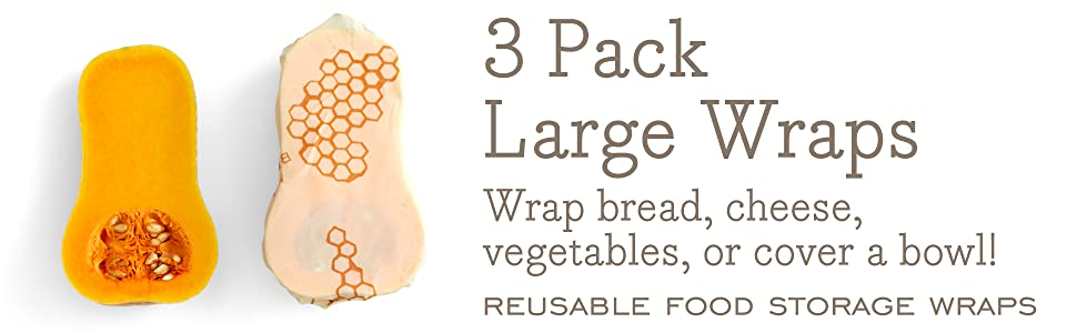 3 pack bees wrap large