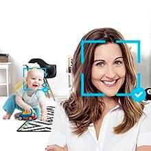 invidyo video baby monitor face detection