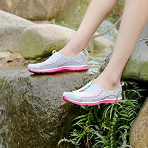 Pink water shoes